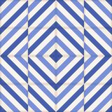 Seamless  pattern . Moroccan tiles, ornaments of blue stripes. Royalty Free Stock Images