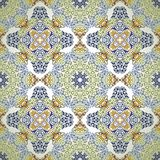 Seamless pattern in mosaic ethnic style. Royalty Free Stock Photo