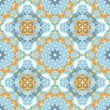 Seamless Pattern in Mosaic Ethnic Style. Stock Photography
