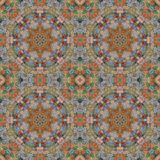 Seamless pattern, mosaic of fabric Stock Image