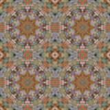 Seamless pattern, mosaic of fabric Stock Image
