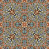 Seamless pattern, mosaic of fabric Stock Images