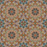 Seamless pattern, mosaic of fabric Stock Photo