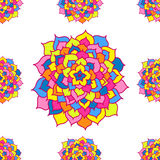 Seamless Pattern Of Mosaic Flowers Royalty Free Stock Images