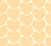 Seamless pattern with mosaic hearts Stock Images