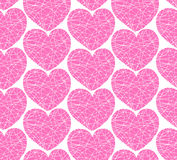 Seamless pattern with mosaic hearts Royalty Free Stock Image