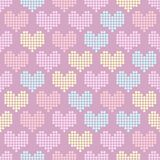 Seamless pattern with mosaic hearts Stock Photos