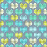 Seamless pattern with mosaic hearts. For textiles, interior design, for book design, website background Stock Photography