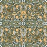 Seamless pattern mosaic oriental. Traditional antique ornament. Folklore oriental ethnic tile. Vector illustration stock illustration