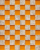 Seamless pattern of mosaic tiles - orange glass and grey stone Royalty Free Stock Images