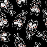 Seamless pattern with moth Dead Head, retro style. Stock Images