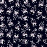 Seamless pattern with moth Dead Head, retro style. Stock Photography