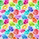 Seamless pattern of motley crystals Stock Images
