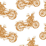 Seamless pattern with motorbike on white background Royalty Free Stock Photography