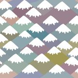 Seamless pattern Mount, Nature background with Mountain landscape. Gray, pink, blue navy mountain with snow-capped peaks. Vector. Illustration vector illustration