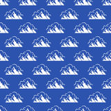 Seamless pattern with mountain and clouds Stock Image