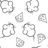 Seamless pattern - mouse and cheese Stock Image
