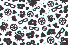 Seamless pattern of movie design elements Stock Photos