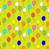 Seamless pattern of multi-colored balloons. On a colored background Stock Illustration