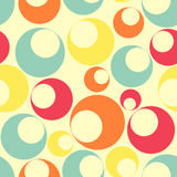 Seamless pattern of multi-colored circular shapes Stock Photography