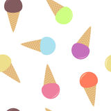 Seamless pattern from multi-colored ice cream Royalty Free Stock Images