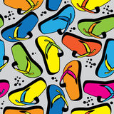 Seamless pattern multicolor beach slippers Royalty Free Stock Image
