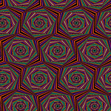 Seamless pattern with multicolor hexagonal forms Royalty Free Stock Image