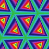 Seamless pattern with multicolor triangle forms Royalty Free Stock Photography