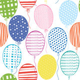 Seamless pattern with multicolored  balloons.Hand-drawn backgrou Stock Photos