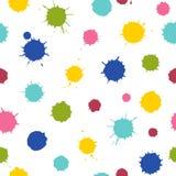 Seamless pattern. Multicolored blots isolated on white background. Multicolored blots isolated on white background. Seamless pattern. Ideal for textile print stock illustration
