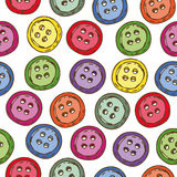 Seamless Pattern with Multicolored Buttons Stock Photo