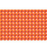Seamless pattern with multicolored dots isolated on orange Royalty Free Stock Photo