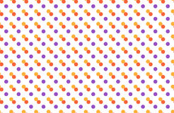 Seamless pattern with multicolored dots isolated on white Royalty Free Stock Image