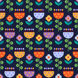 Seamless pattern with multicolored flowers Stock Photography
