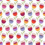 Seamless pattern with multicolored flowers Royalty Free Stock Photography