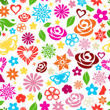 Seamless pattern of multicolored flowers Stock Photography