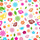 Seamless pattern of multicolored flowers Stock Image