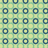 Seamless pattern from multicolored gears Stock Photo