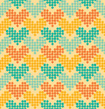 Seamless pattern. Multicolored hearts. Royalty Free Stock Photography
