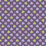 Seamless pattern with multicolored leaves Royalty Free Stock Images