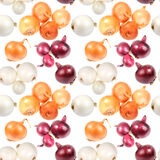 Seamless pattern of multicolored onions Stock Photo