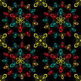 Seamless pattern. Multicolored ornamental abstract seamless pattern Stock Photography