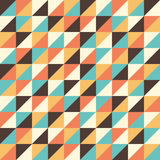 Seamless pattern with multicolored triangles. Royalty Free Stock Photo