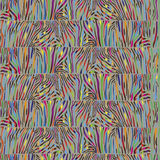 Seamless pattern with multicolored Zebra skin Stock Photography