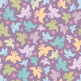 Seamless pattern with multicoloured birds Royalty Free Stock Photography