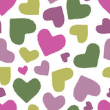 Seamless pattern with multicoloured hearts Royalty Free Stock Photography