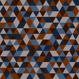 Seamless pattern of multicoloured triangles royalty free stock photos