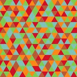 Seamless pattern of multicoloured triangles stock images