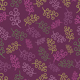 Seamless pattern with multicoloured twigs Stock Images