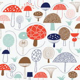 Seamless pattern with mushrooms Stock Images